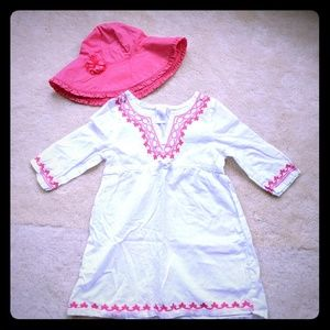 Gymboree swim cover-up and hat